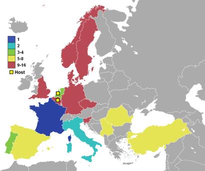 Landene som var med i EURO 2000